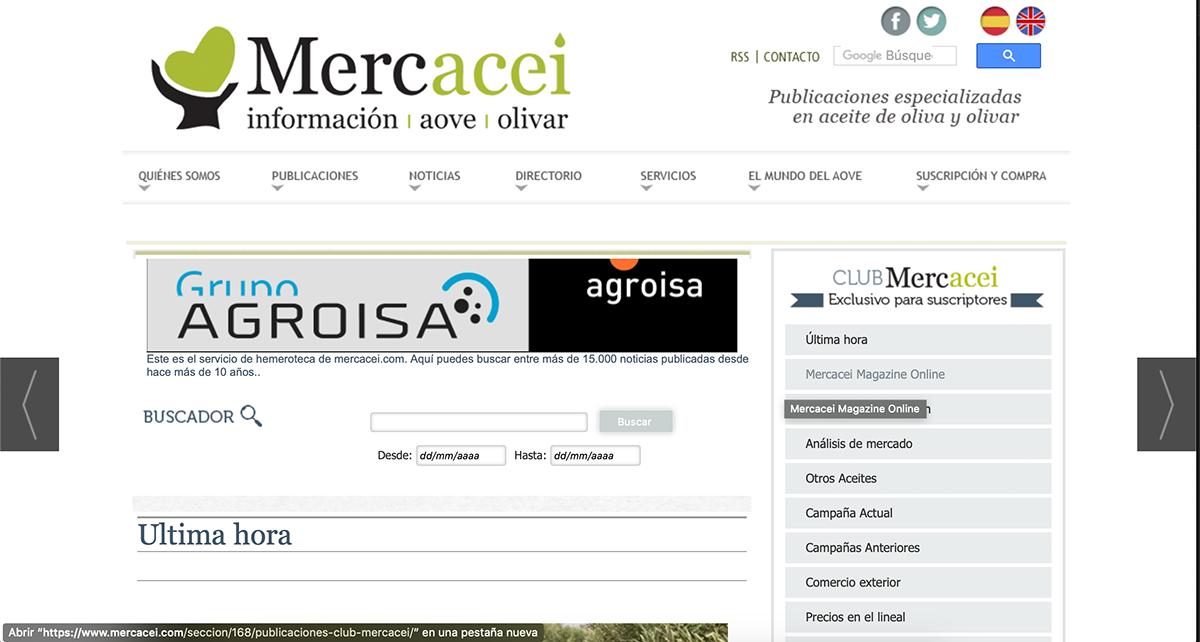Noticia en Mercacei sobre nuestra presentación de resultados en Córdoba